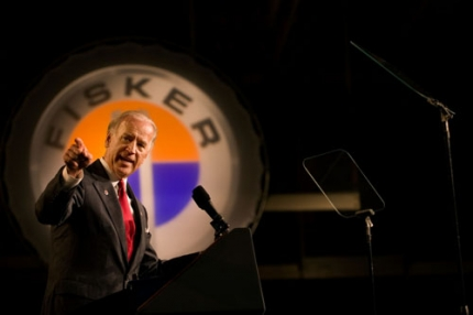 Joe Biden at Fisker automotive