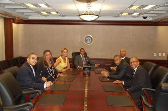 Jay-Z and Beyonce in the White House Situation Room