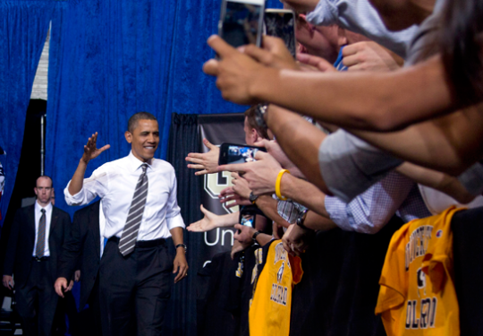 Obama speaks at the University of Colorado / AP Images