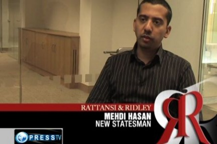 Mehdi Hasan appears on Iranian state TV