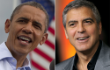 President Obama, George Clooney / AP