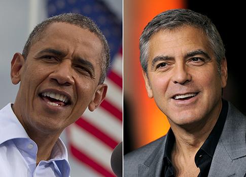 President Obama, George Clooney / AP