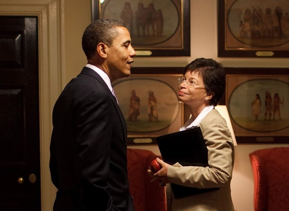 President Obama with Valerie Jarrett