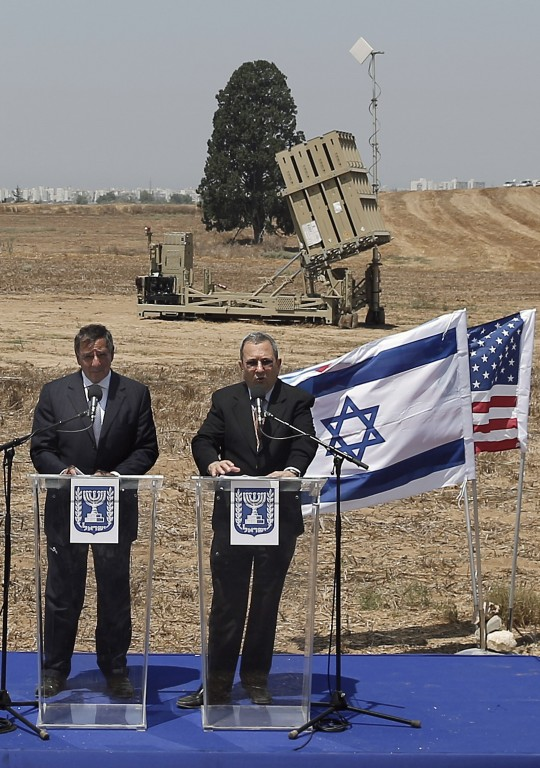 Sec. of Defense Leon Panetta, Israel's Defense Minister Ehud Barak / AP