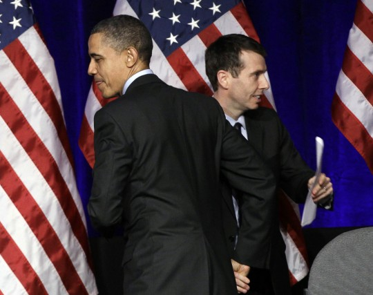 David Plouffe with President Obama / AP