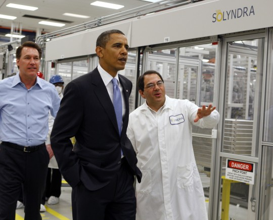 Obama visits Solyndra / AP