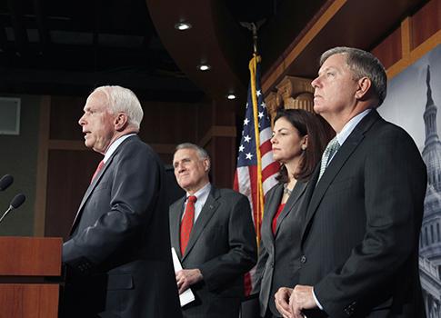 Arizona Sens. McCain, Kyl, Ayotte, Graham / AP