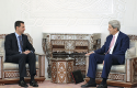 Bashar al-Assad, Sen. John Kerry / AP