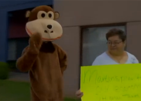 Monkey at Albuquerque Protest Screenshot