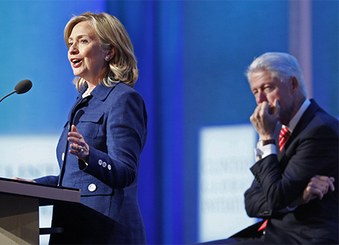 Hillary Clinton, Bill Clinton / AP