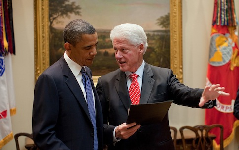 Obama and Bill Clinton / Wikimedia Commons