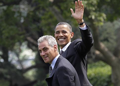 Rahm Emanuel, President Obama / AP
