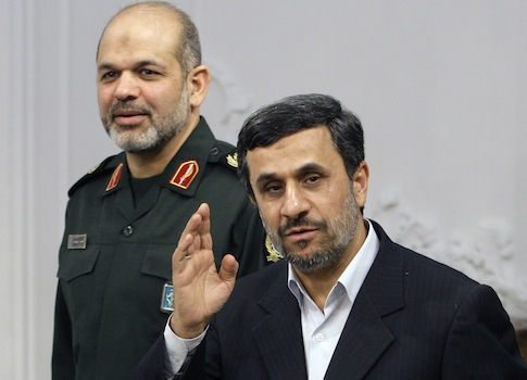 Ahmad Vahidi and Mahmoud Ahmadinejad AP