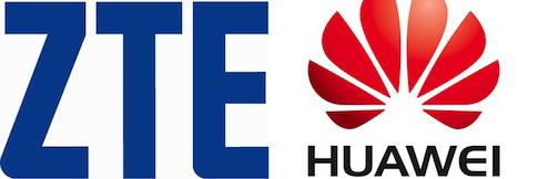 zte huawei logos