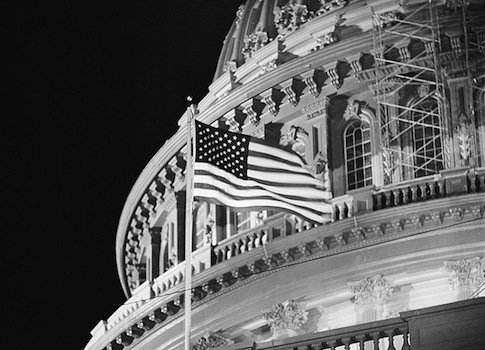 U.S. NEW FLAG CAPITOL BUILDING