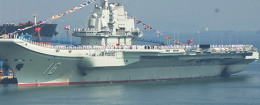 Chinese aircraft carrier, Liaoning / AP