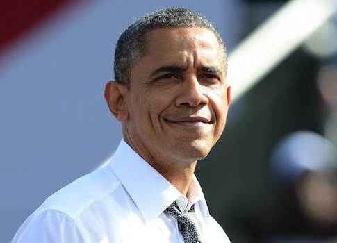 Barack Obama campaigning in Delray Beach, Florida / AP