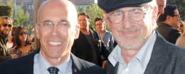 Jeffrey Katzenberg and Steven Spielberg in 2011. (AP)