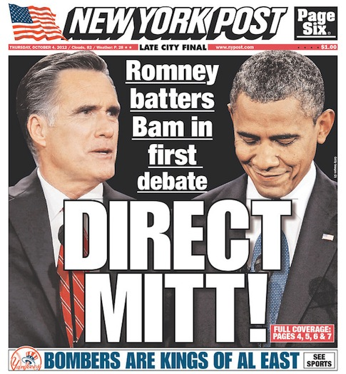 NY Post Oct. 4, 2012