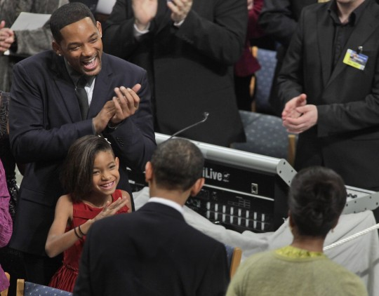 Will Smith applauds Barack Obama at Nobel Peace Prize ceremony (AP)