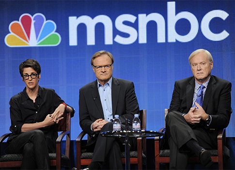 Rachel Maddow, Lawrence O'Donnell, Chris Matthews / AP