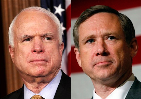 John McCain, Mark Kirk / AP