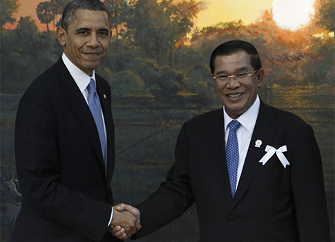 Obama, Prime Minister of Cambodia, Hun Sen / AP