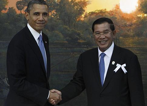 Obama, Prime Minister of Cambodia, Hun Sen / AP