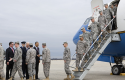 Obama, Biden with troops at Joint Base Andrews Dec. 2011 / AP