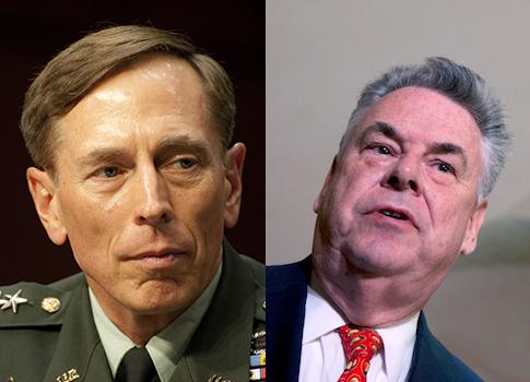 Gen. Petraeus, Rep. King / AP