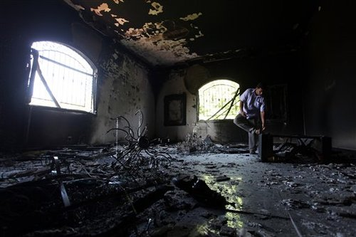Burned out consulate in Benghazi (AP)