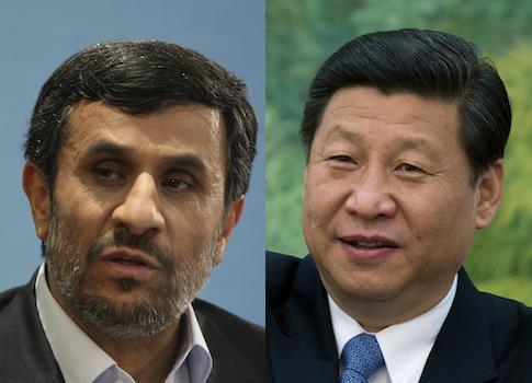 Mahmoud Ahmadinejad, Xi Jinping / AP
