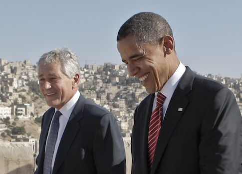 Chuck Hagel, Barack Obama / AP