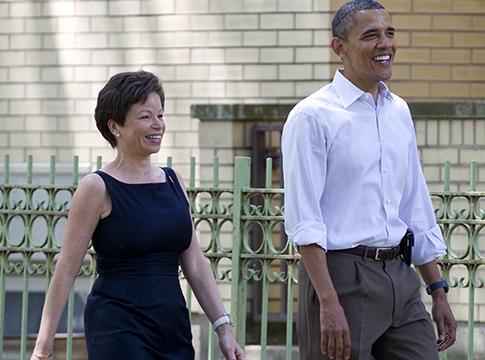 Valerie Jarrett, Obama / AP