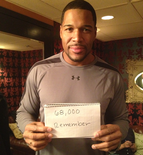 Michael Strahan / 68,000 Remember Facebook