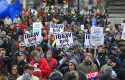 Michigan right-to-work protest / AP