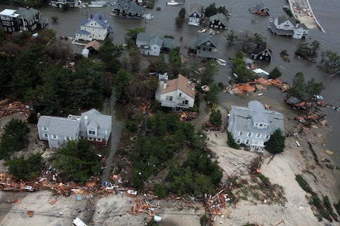 Hurricane Sandy damage / AP