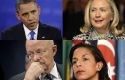 President Obama, Hillary Clinton, James Clapper, Susan Rice / AP, Wikimedia Commons