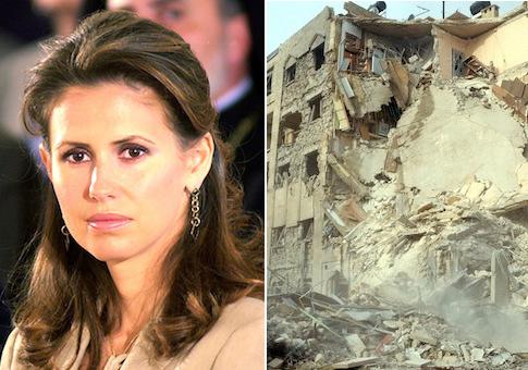 Asma al-Assad, ruins in Syria / AP