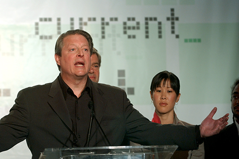 Gore at the April 4, 2005 unveiling of Current (AP)