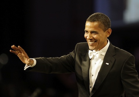 Barack Obama at the Jan. 20, 2009, Inaugural Ball / AP