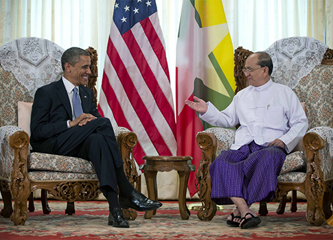 President Obama and Burmese President Thein Sein / AP