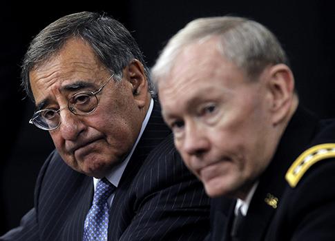 Defense Secretary Leon Panetta, Joint Chiefs Chairman Gen. Martin Dempsey / AP