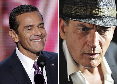 Antonio Villaraigosa, Charlie Sheen / AP