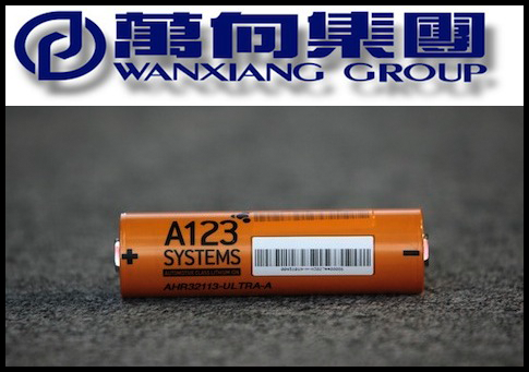 Wanxiang logo, A123 battery / AP