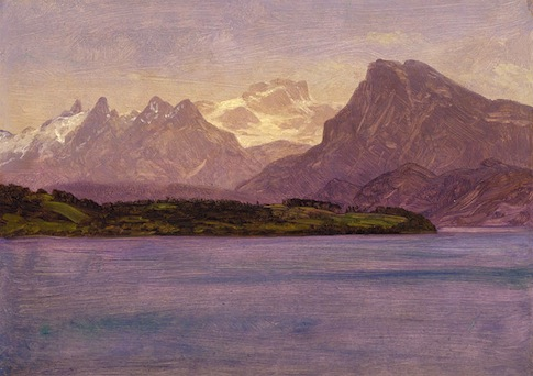 Albert Bierstadt Alaskan Coastal Range at Smithsonian / Wikimedia Commons