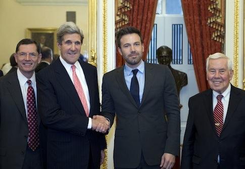 Phantoms star Ben Affleck, second from right (AP)