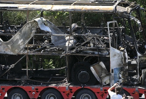 Bulgaria bus bombing / AP