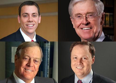 Jim Vandehei, Charles Koch, David Koch, John Harris