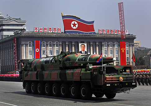 North Korea's  missile on parade in Pyongyang from April 15, 2012 / AP